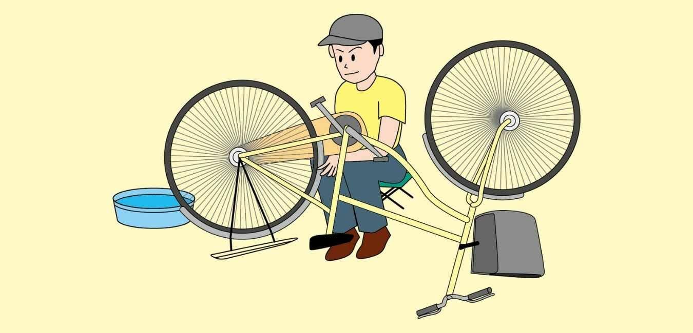 自転車屋 車いす